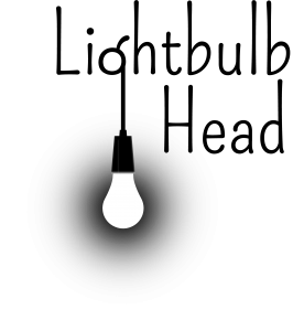 Lightbulb Head logo (black)